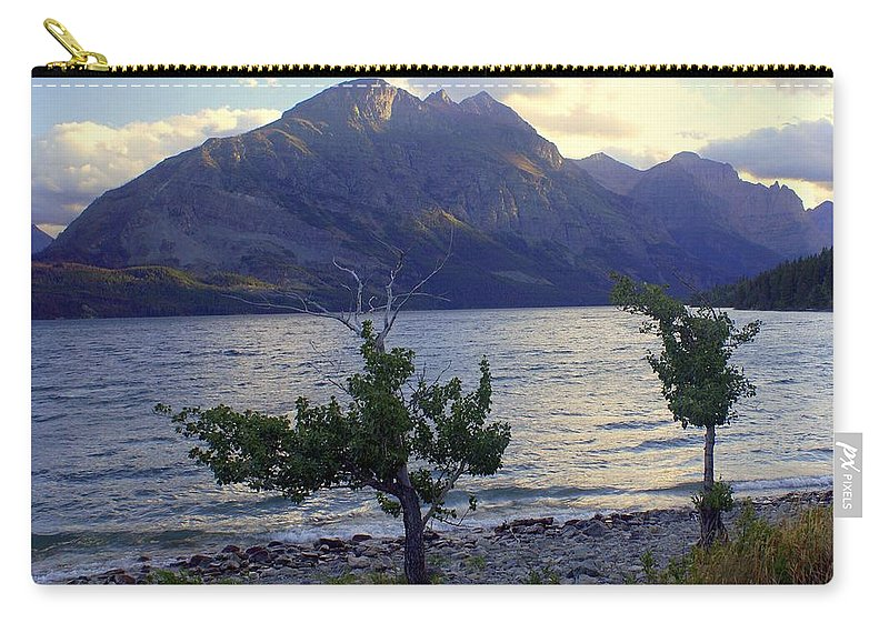 St. Mary's Lake Carry-all Pouch featuring the photograph St. Mary Lake by Marty Koch