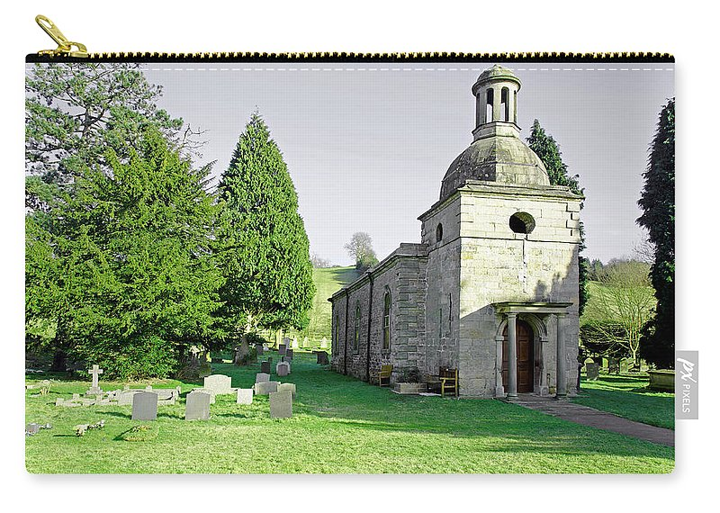Mapleton Carry-all Pouch featuring the photograph St Mary's Church At Mapleton by Rod Johnson