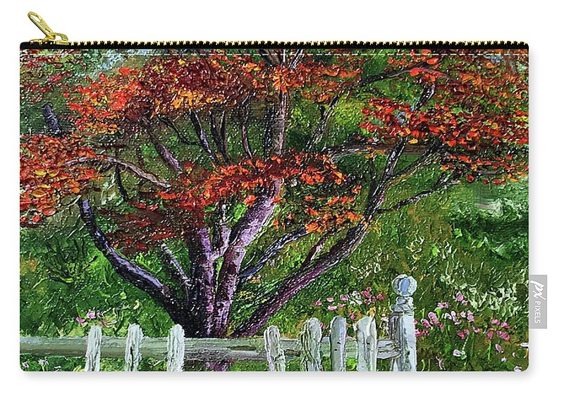 Landscape Carry-all Pouch featuring the painting St. Michael's Tree by Terry R MacDonald