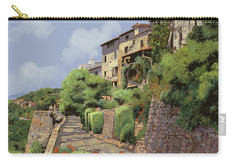 Landscape Carry-all Pouch featuring the painting St Paul De Vence by Guido Borelli