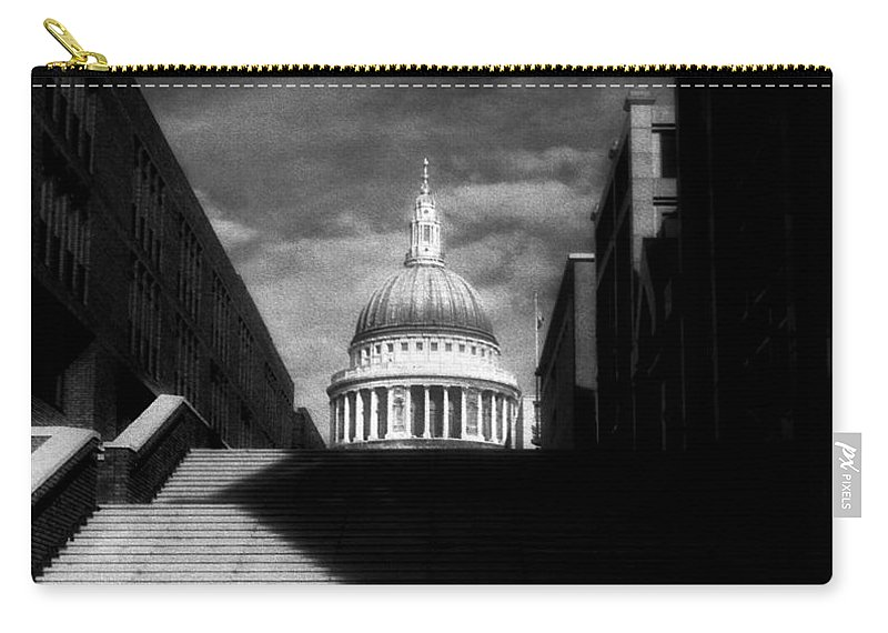 Infrared Carry-all Pouch featuring the photograph St Paul's Cathedral by Sergio Bondioni