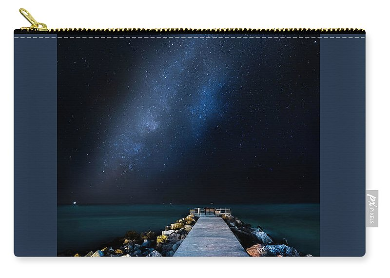 Galaxy Carry-all Pouch featuring the photograph St. Pete Night by Marvin Spates