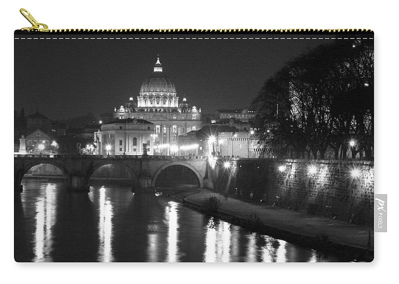 Italy Carry-all Pouch featuring the photograph St. Peters At Night by Donna Corless