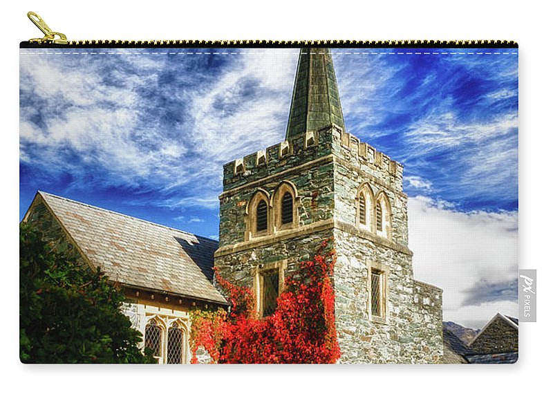 Queenstown Carry-all Pouch featuring the photograph St. Peter's Church by Doug Sturgess