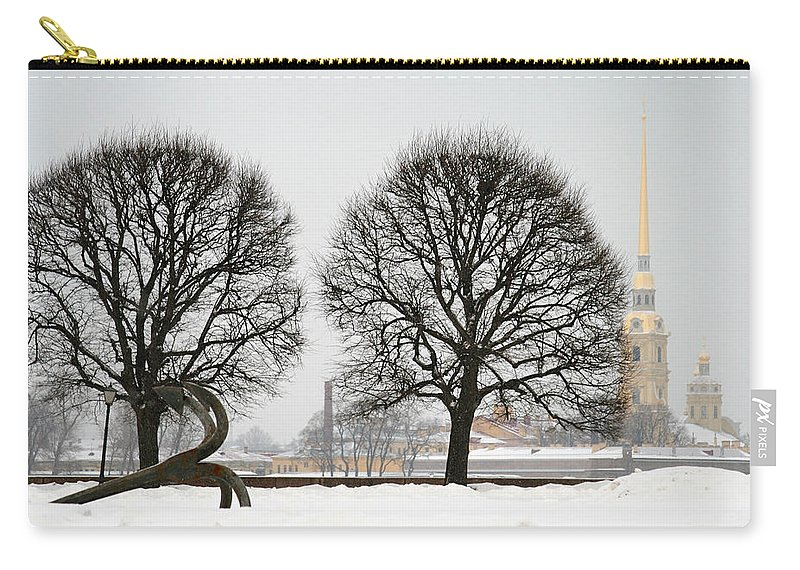 St. Petersburg Carry-all Pouch featuring the photograph St. Petersburg - Winter by Masha Batkova