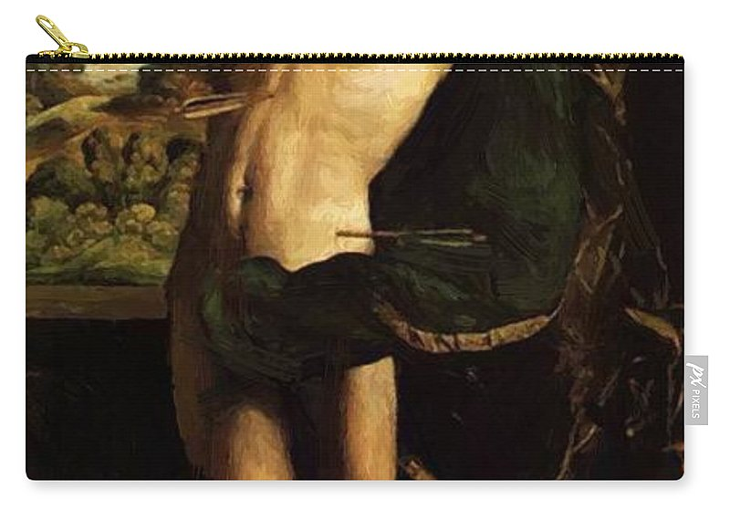 St Carry-all Pouch featuring the painting St Sebastian by Dossi Dosso