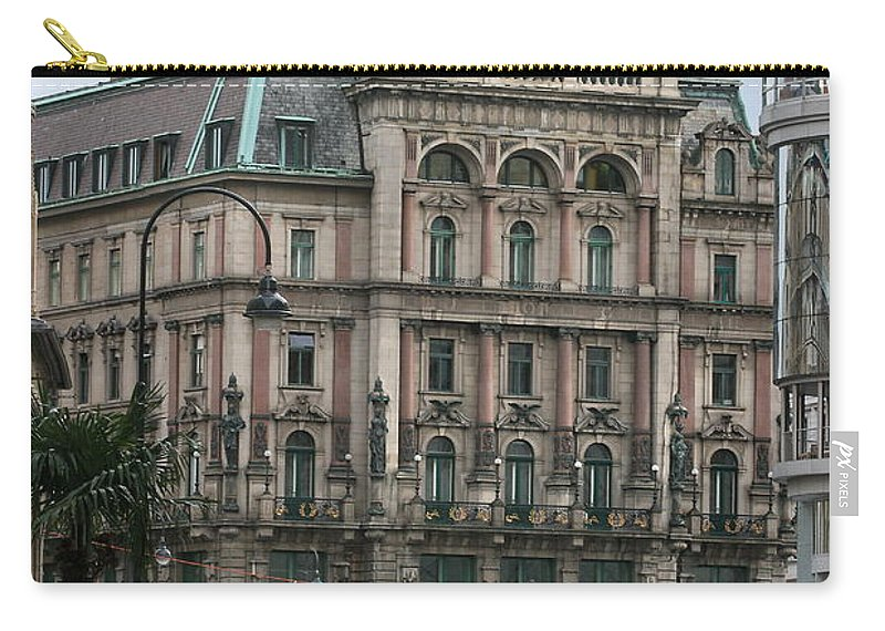 Arch Carry-all Pouch featuring the photograph St Stephens Square Vienna by Angela Rath