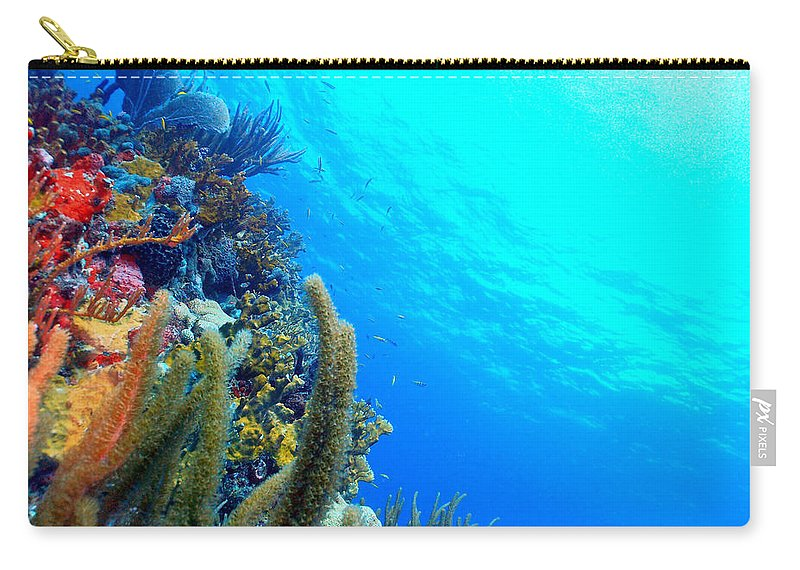 Carry-all Pouch featuring the photograph St. Thomas Seascape by Todd Hummel