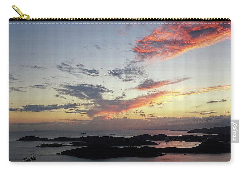 Sunset Carry-all Pouch featuring the photograph St. Thomas Sunset by Deborah England