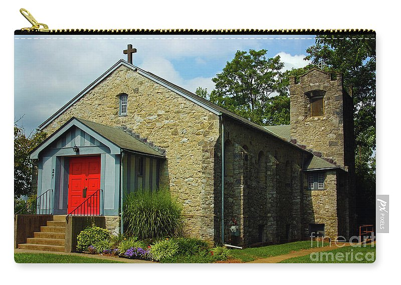 St. Timothy's Episcopal Church Carry-all Pouch featuring the photograph St. Timothy's Episcopal Church by Patti Whitten
