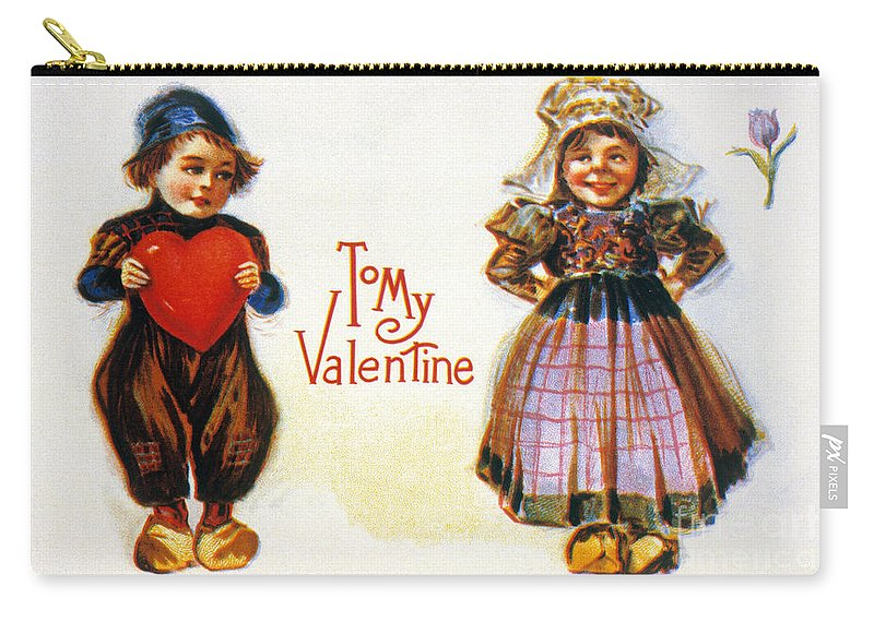 1900 Carry-all Pouch featuring the photograph St. Valentines Day Card by Granger