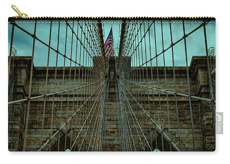 America Carry-all Pouch featuring the photograph Stable - Brooklyn Bridge by Stephen Stookey