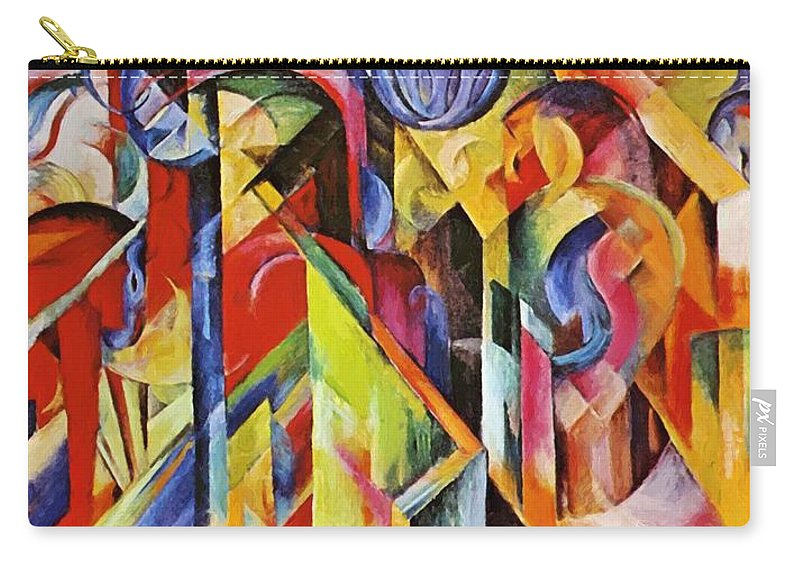 Stables Carry-all Pouch featuring the painting Stables 1913 by Marc Franz