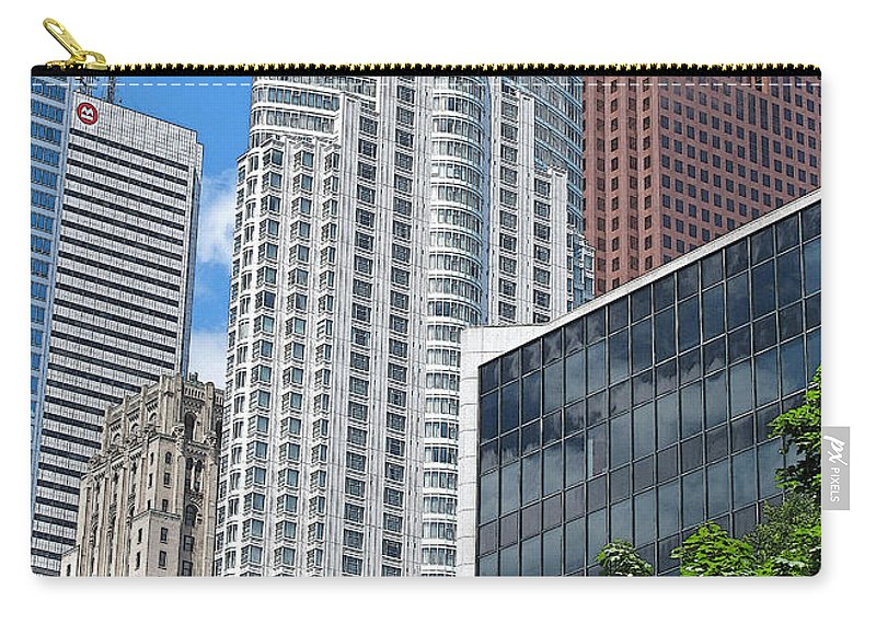 Toronto Carry-all Pouch featuring the photograph Stacked Cubes by Ian MacDonald