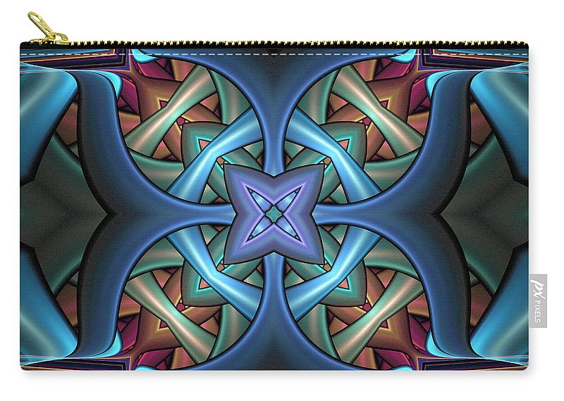 Digital Art Carry-all Pouch featuring the digital art Stacked Kaleidoscope by Amanda Moore