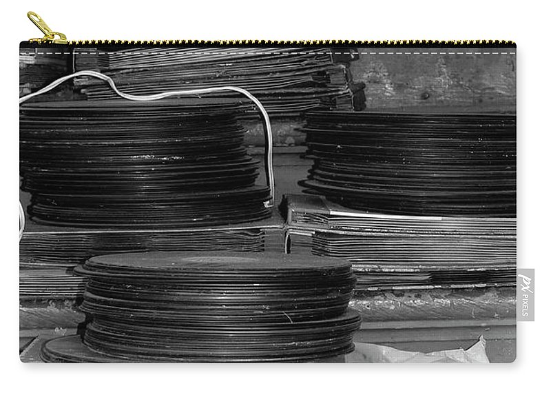 Photo For Sale Carry-all Pouch featuring the photograph Stacks Of Wax by Robert Wilder Jr