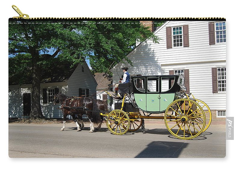 Stage Coach Carry-all Pouch featuring the photograph Stage Coach by Eric Liller