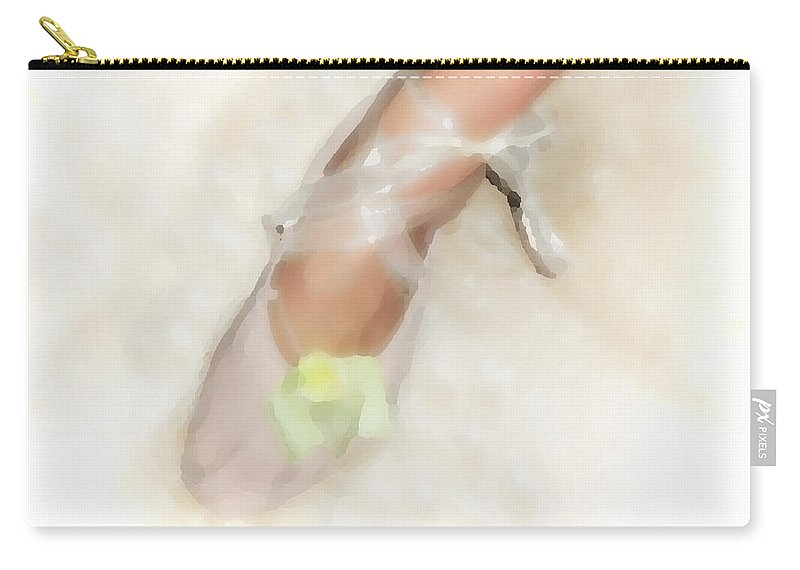Ballet Carry-all Pouch featuring the digital art Stage Left by Donna Blackhall