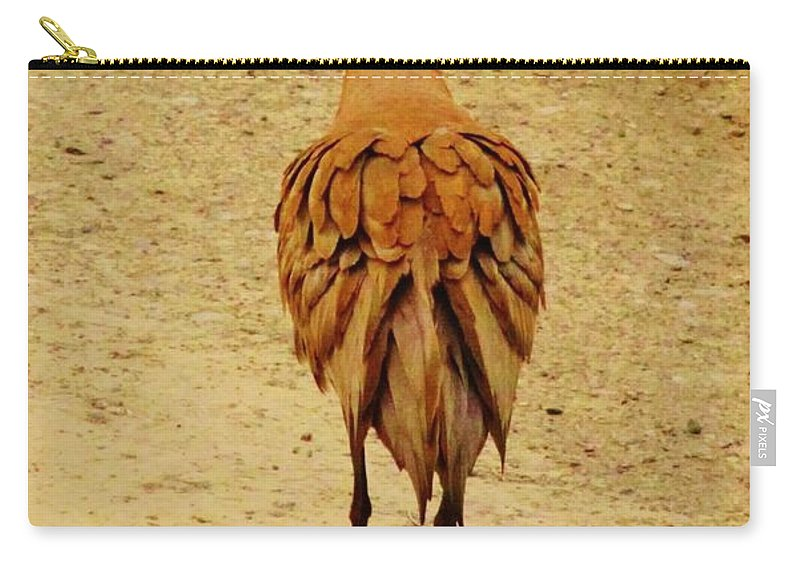 Dancing Sand Hill Crane Carry-all Pouch featuring the photograph Stage Left by Lori Mahaffey