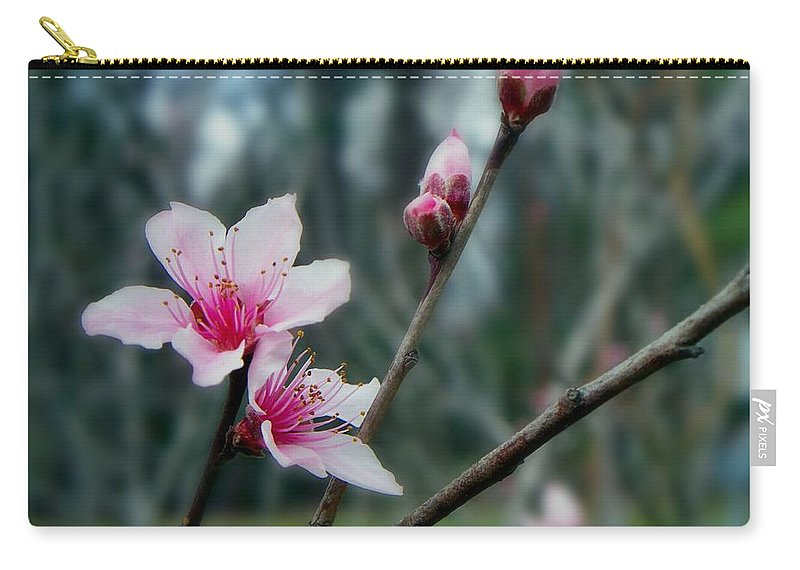 Peach Carry-all Pouch featuring the photograph Stages Of Spring by Betty Northcutt