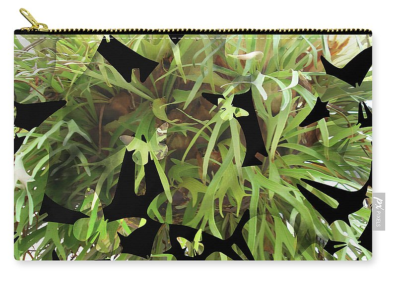 Fractal Carry-all Pouch featuring the photograph Staghorn Butterfly Fractal by Duncan Tooley