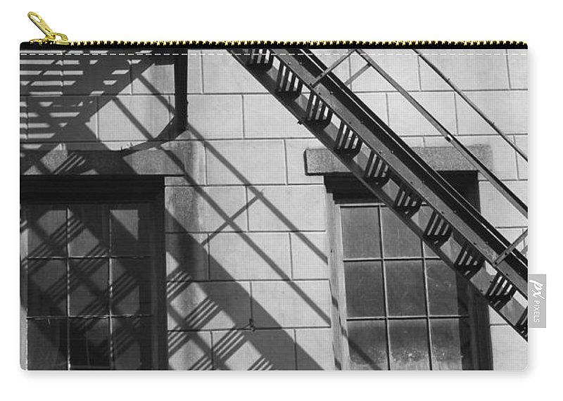 Stairs Carry-all Pouch featuring the photograph Stair Shadows by Lauri Novak
