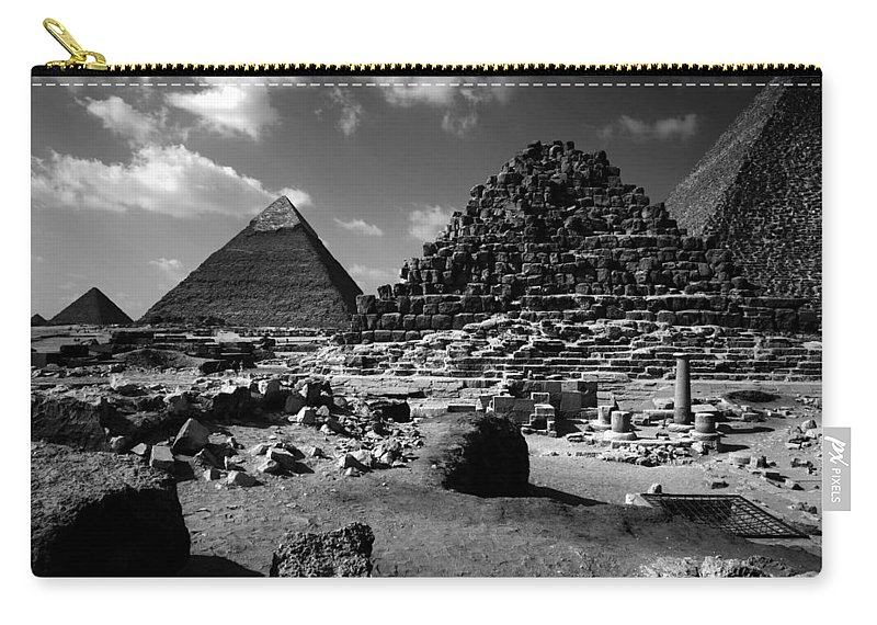 Pyramids Carry-all Pouch featuring the photograph Stair Stepped Pyramids by Donna Corless