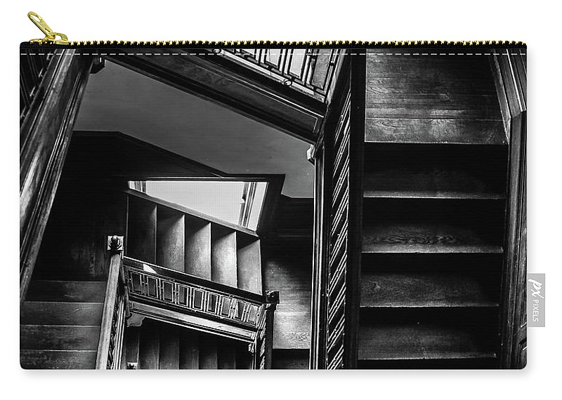 Swannanoa Mansion Carry-all Pouch featuring the photograph Staircase In Swannanoa Mansion by Jennifer Mitchell