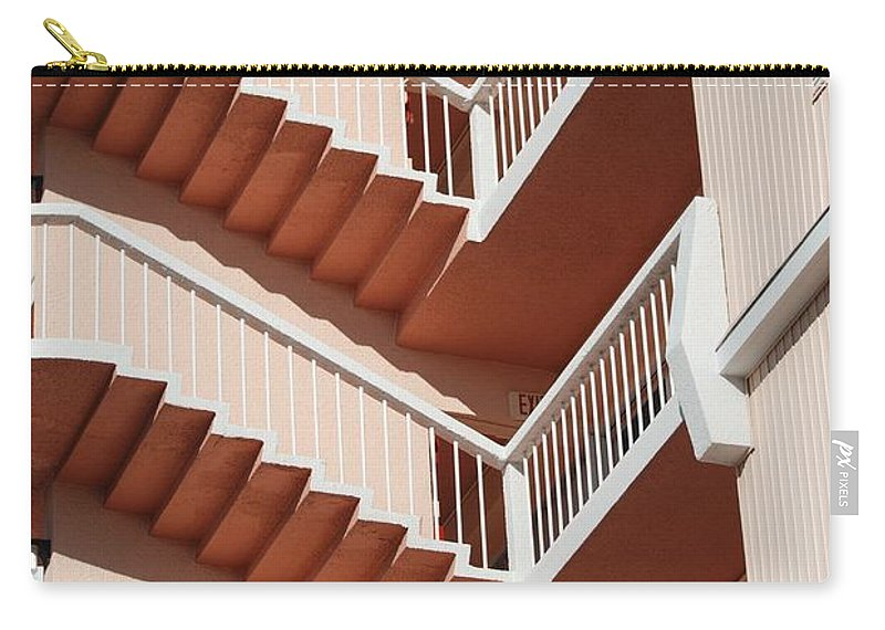 Architecture Carry-all Pouch featuring the photograph Stairs And Rails by Rob Hans