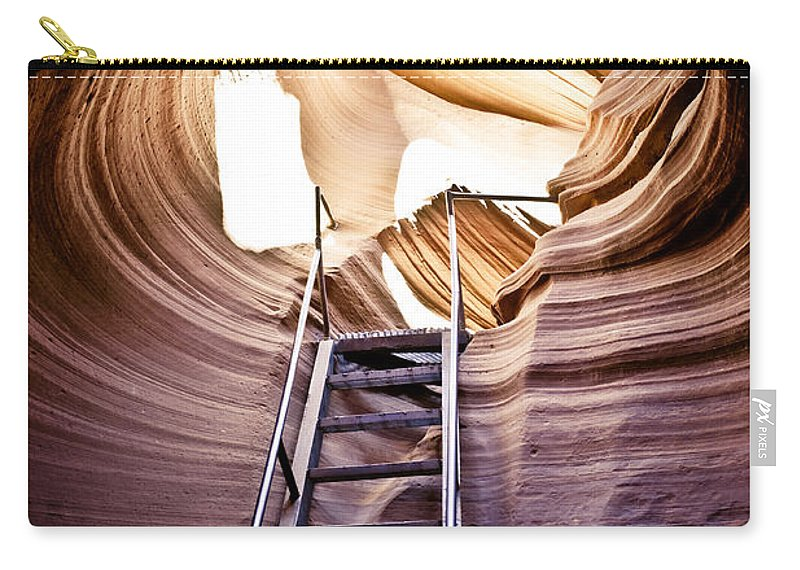 Canyon Carry-all Pouch featuring the photograph Stairs From Chaos by Scott Sawyer