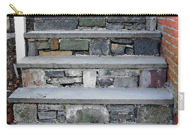 Stairs Carry-all Pouch featuring the photograph Stairs To The Plague House by RC DeWinter