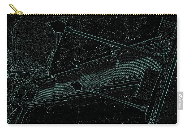 Black Carry-all Pouch featuring the photograph Stairway To-blue by Charleen Treasures
