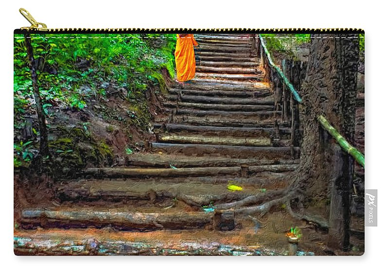 Jungle Carry-all Pouch featuring the photograph Stairway To Heaven Impasto by Steve Harrington