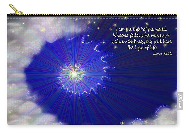 Stairway To Heaven Carry-all Pouch featuring the painting Stairway To Heaven by Methune Hively