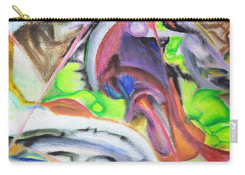 Surreal Carry-all Pouch featuring the painting Stairway To Never by Regina Valluzzi