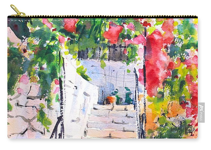 Stairway Carry-all Pouch featuring the painting Stairway To Paradise by Ibolya Taligas