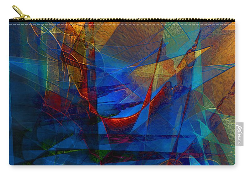 Abstract Carry-all Pouch featuring the digital art Stairway Upon Grail Passeges by Stephen Lucas