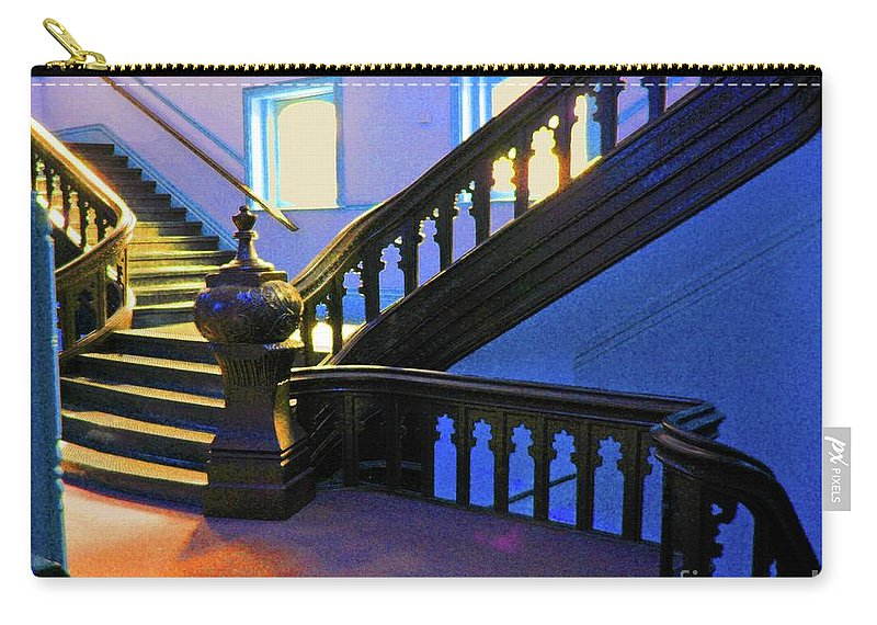 University Of Tampa Carry-all Pouch featuring the photograph Stairwell Of Color by Jost Houk