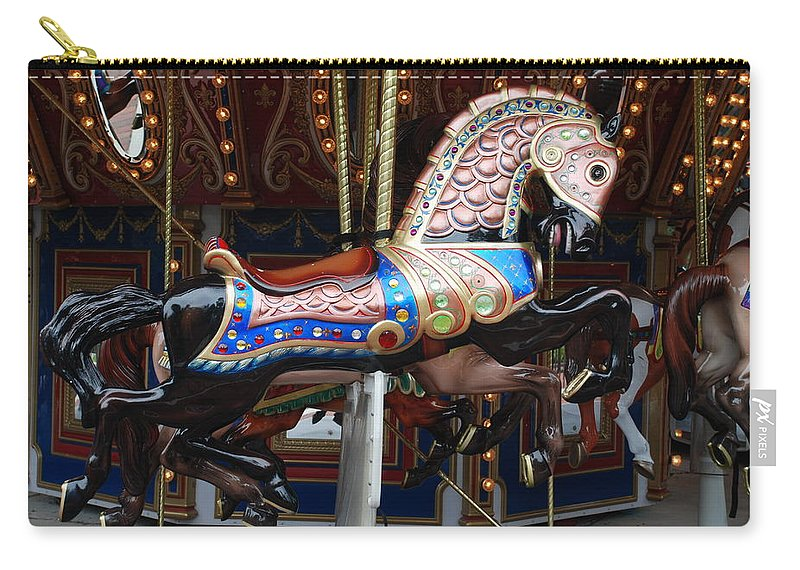 Pop Art Carry-all Pouch featuring the photograph Stallion by Rob Hans