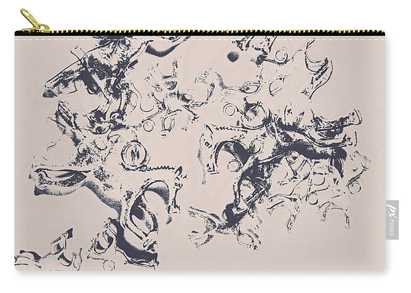 Art Carry-all Pouch featuring the photograph Stallions Inc. by Jorgo Photography - Wall Art Gallery