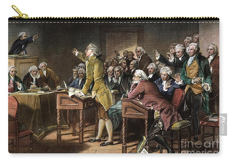 1765 Carry-all Pouch featuring the photograph Stamp Act: Patrick Henry by Granger