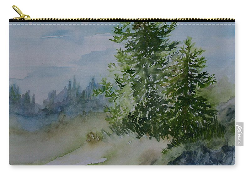 Grand Beach Manitoba Canada Carry-all Pouch featuring the painting Stand By Me Little One by Joanne Smoley