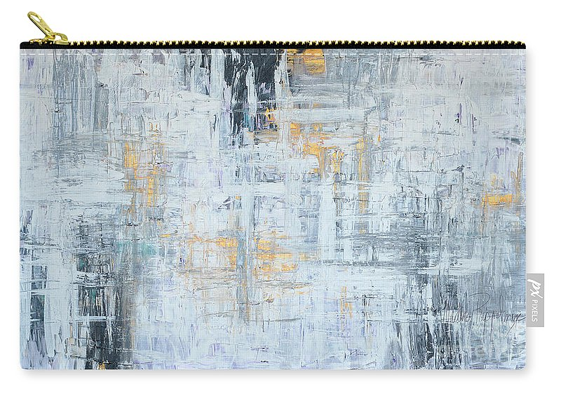 Gold Carry-all Pouch featuring the painting Stand Firm by Nadine Rippelmeyer