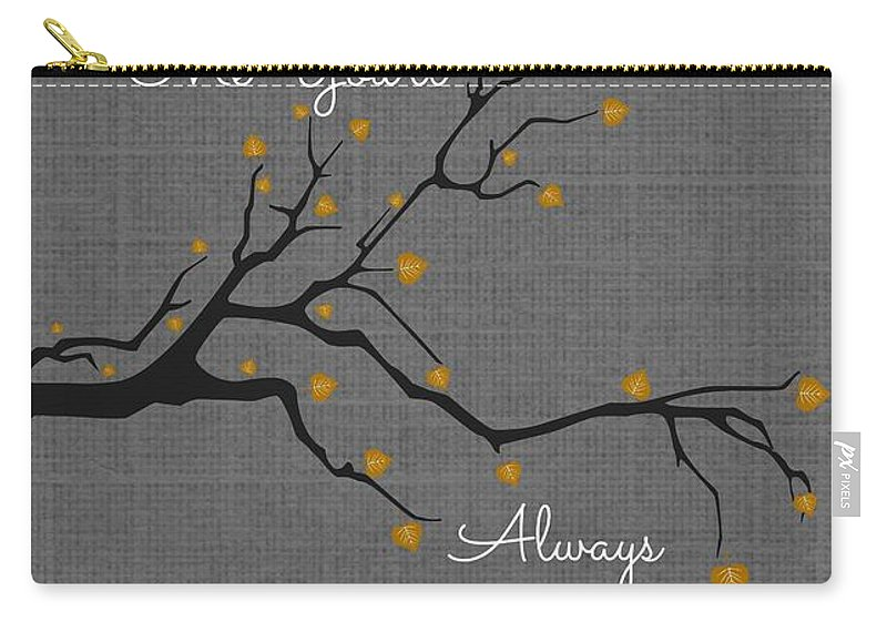 Stand Tall Carry-all Pouch featuring the digital art Stand Tall by Chastity Hoff