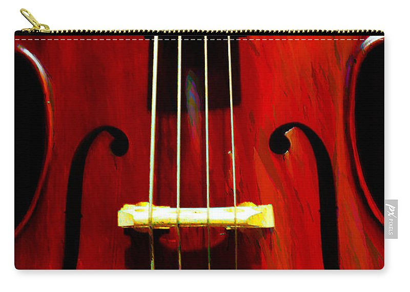 Stand Up Carry-all Pouch featuring the photograph Stand Up Bass by Bill Cannon