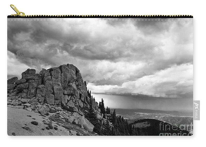 Mountain Carry-all Pouch featuring the photograph Standing Against The Storm by Scott Pellegrin