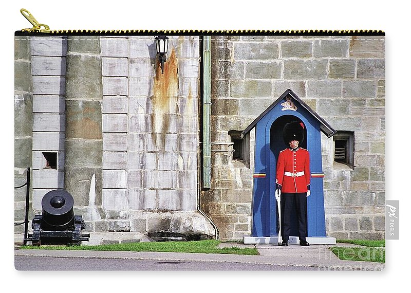 Standing Guard Carry-all Pouch featuring the photograph Standing Guard by Allen Beatty