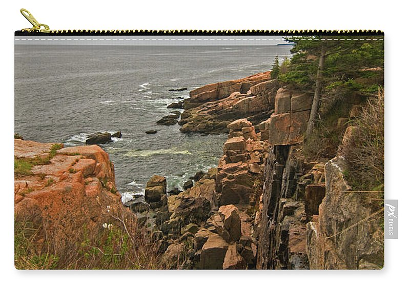 acadia National Park Carry-all Pouch featuring the photograph Standing On The Edge by Paul Mangold
