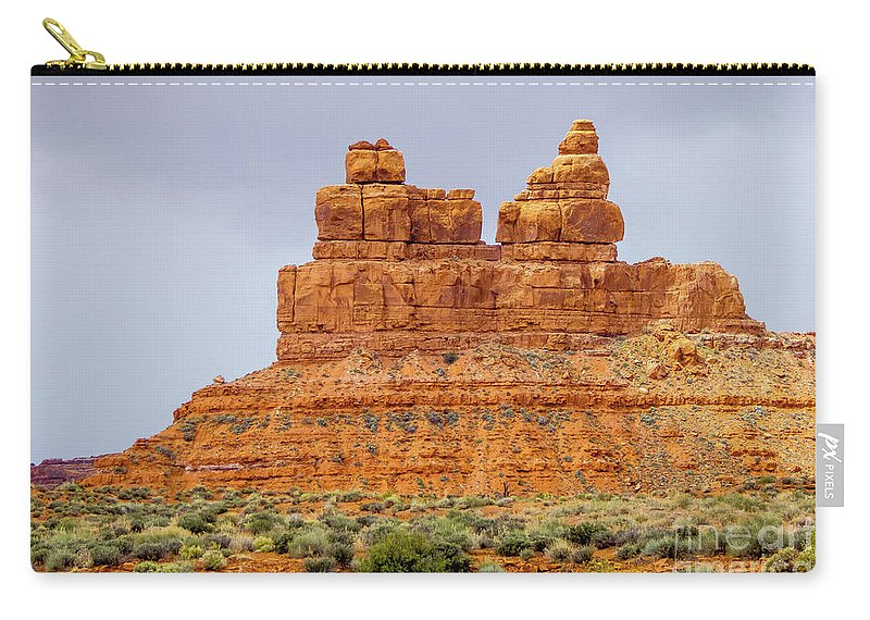 Valley Of The Gods Carry-all Pouch featuring the photograph Standing Strong by Jerry Sellers