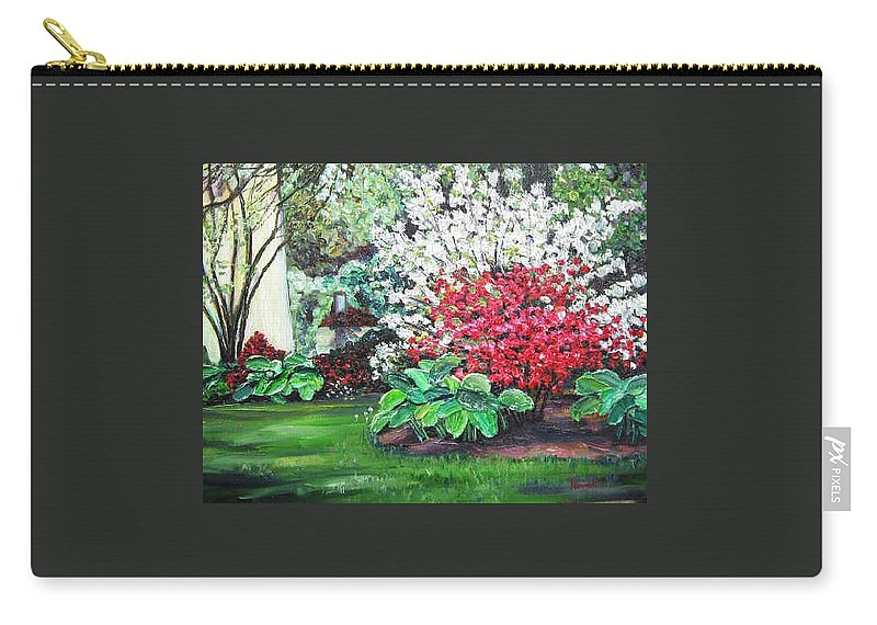 Blossoms Carry-all Pouch featuring the painting Stanely Park Blossoms by Richard Nowak